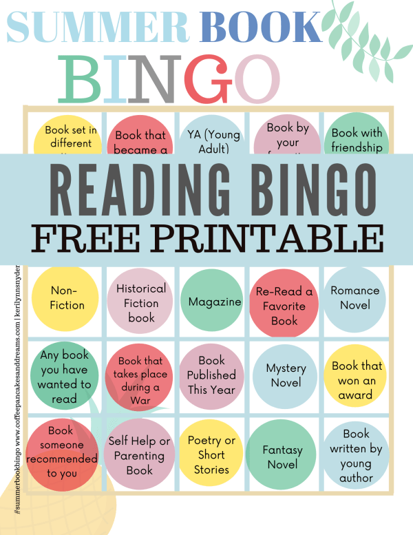 Summer Reading Bingo For Adults #printable #bookrecommendations #summerreading