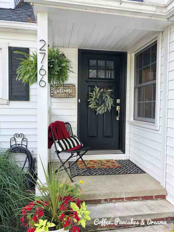 How to to add front porch charm by installing metal house numbers