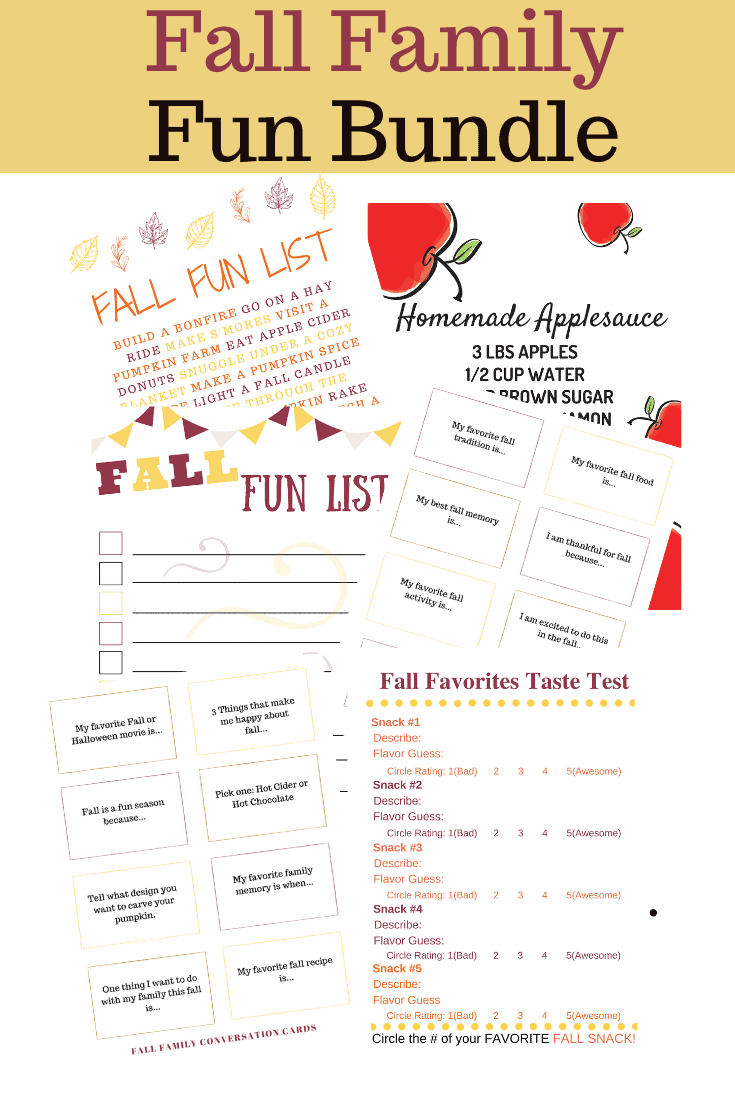 Fall Family Fun Pack of Activities #scavengerhunt #bucketlist #fallactivities