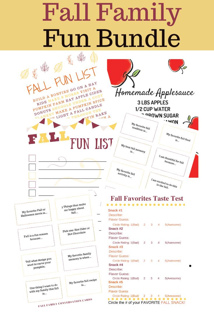 Fall Family Fun Pack of Activities #scavengerhunt #bucketlist #fallactivities
