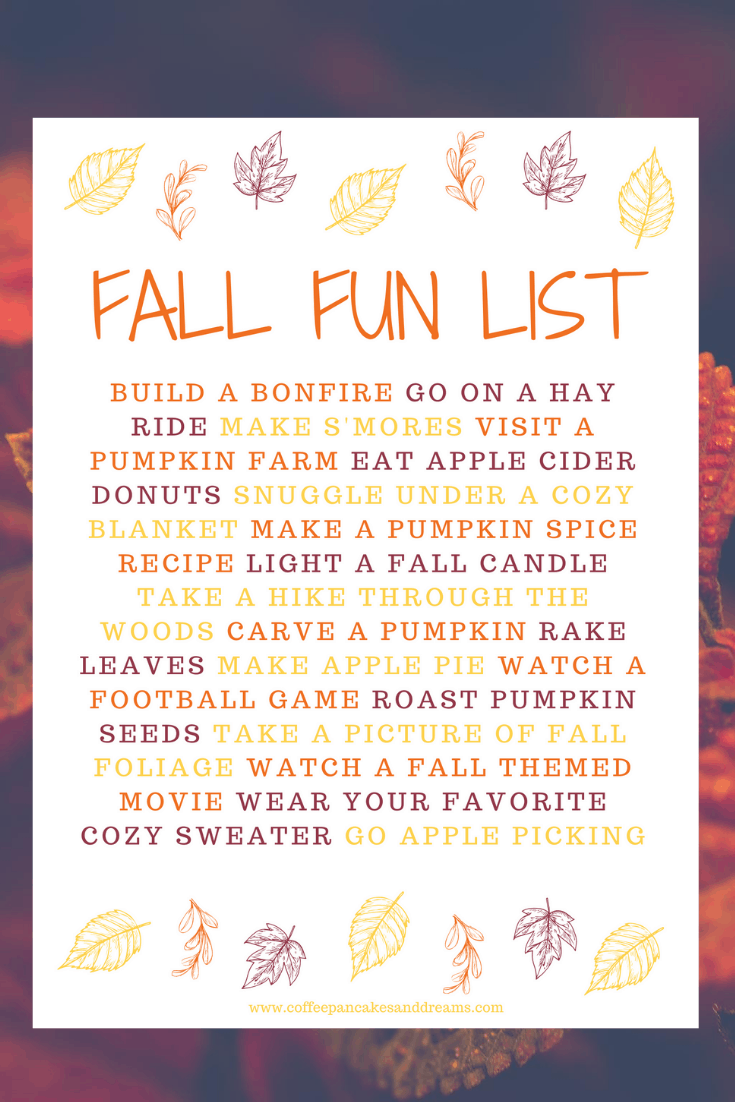 Fall Bucket List 2020 #family #fallprintable #fallactivities
