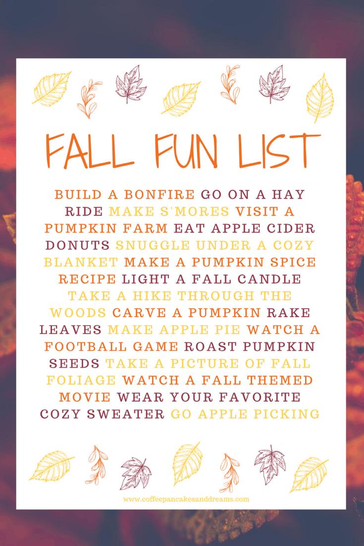 Fall Bucket List 2020 #family #fallprintable #fallactivities
