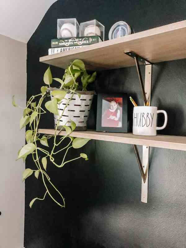 Small Home Office on a Budget #forhim #workfromhome #smallspaces #blackwall