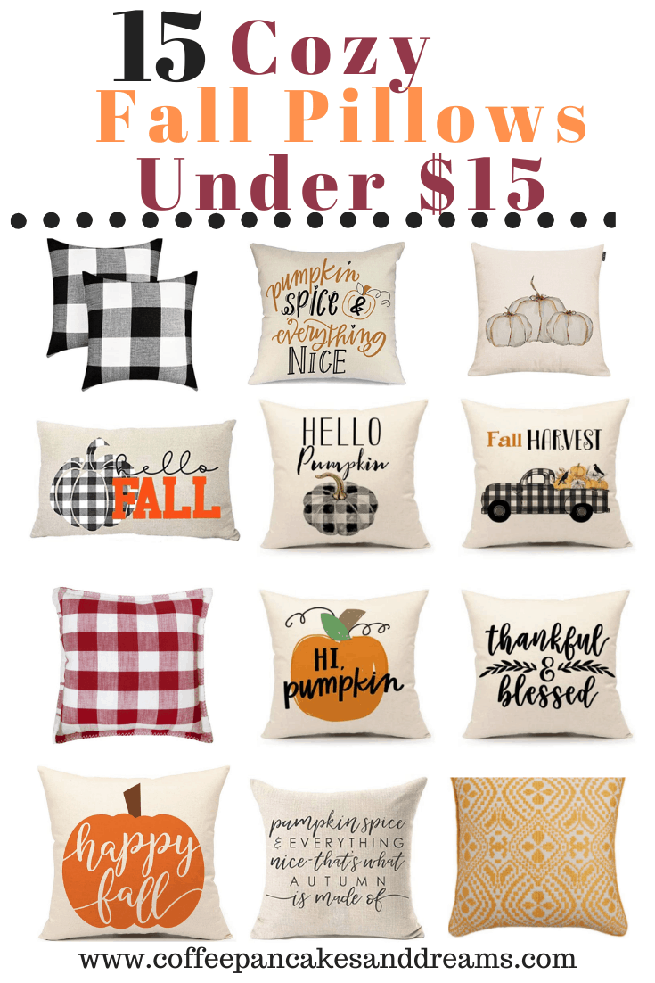 15 Inexpensive Fall Pillows #farmhouse #budget #falldecorating