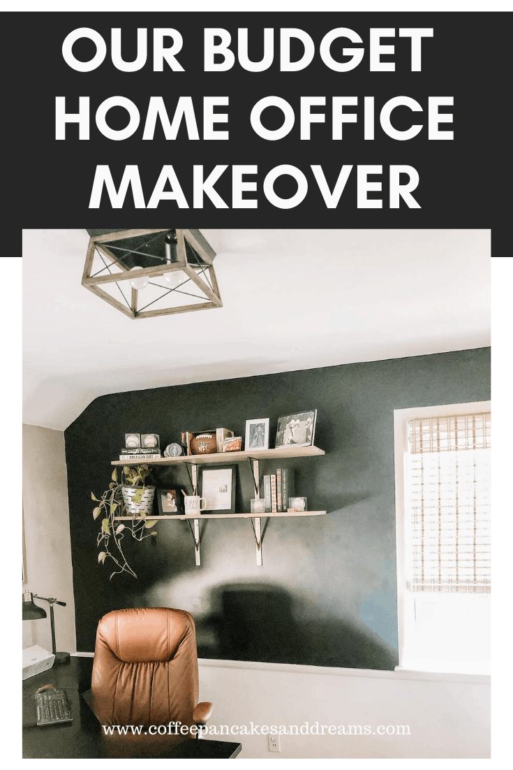 Small Home Office Makeover #forhim #budget #inexpensive #workfromhome #smallspaces