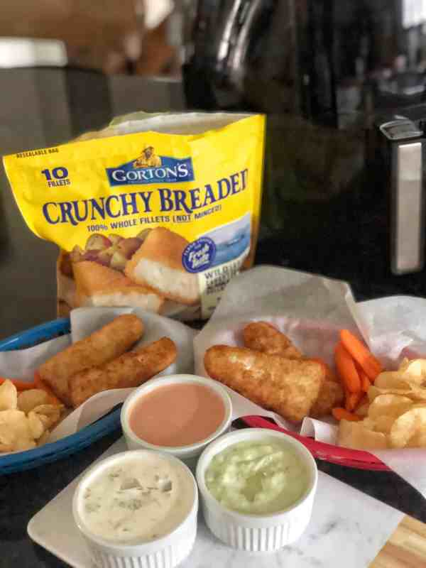 Breaded Fish Fillets in the Air Fryer #sponsored #gortons #quickdinner #airfryer