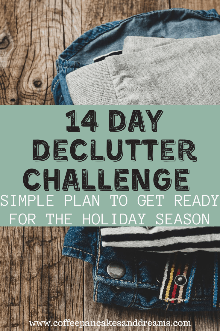 14 Day Declutter Challenge Calendar #organization #declutter #decluttering