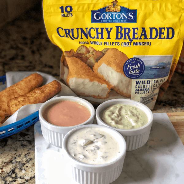 Air Fryer Breaded Fish Sticks #sponsored #recipe #gortons