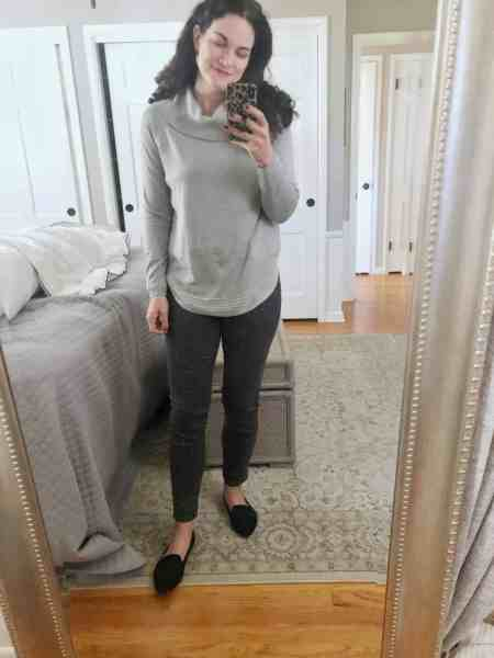 Gray Cowl Neck Sweater Stitch Fix November 2020
