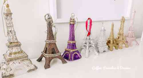 Eiffel Tower Ornaments #christmas #girls #collections #christmasdecorating
