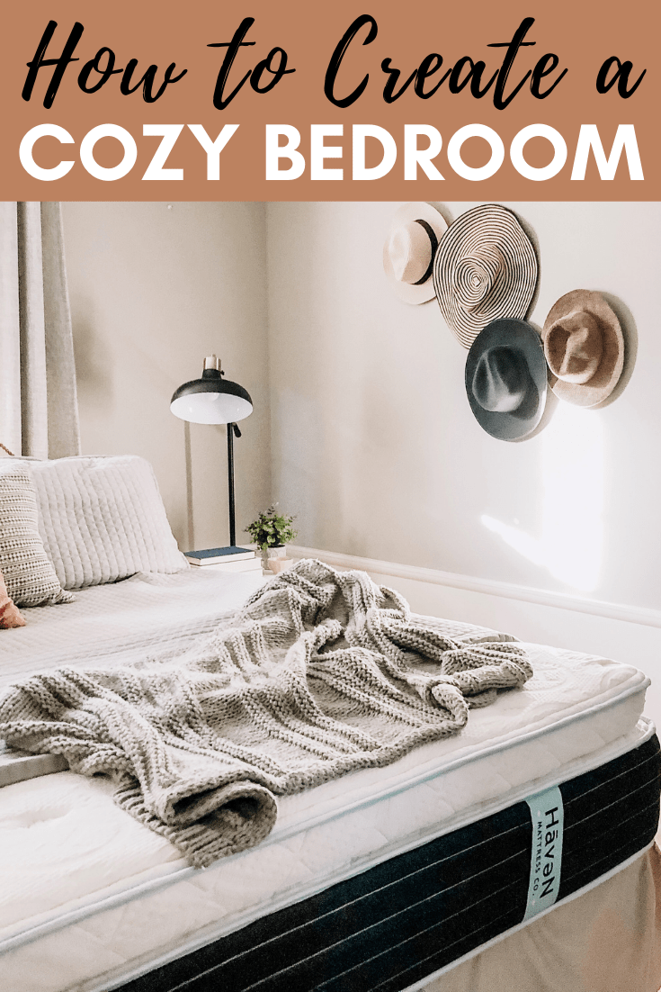 Cozy Bedroom Decor Ideas #neutral #hatwall #sponsored #nighstand