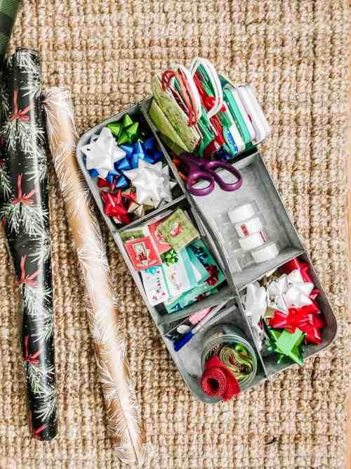 Christmas Gift Wrap Organization Idea
