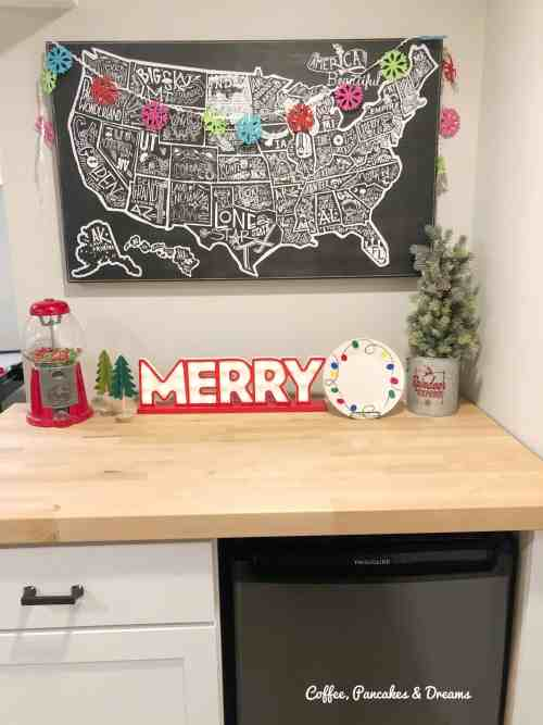 Colorful Christmas Decor Ideas #playroom #merryandbright #whimsical