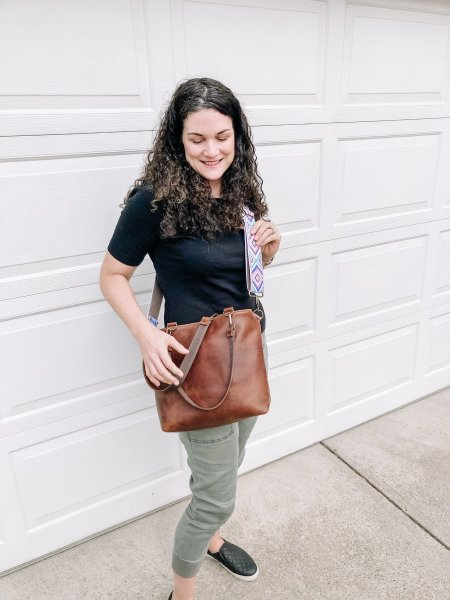 Crossbody Leather Bag by Remnants Bag Company