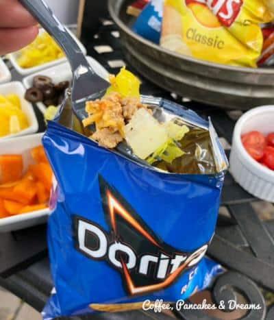 Taco in a Bag with Doritos