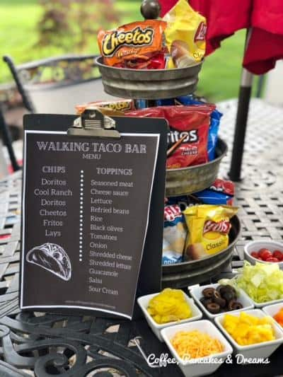 how to serve walking tacos