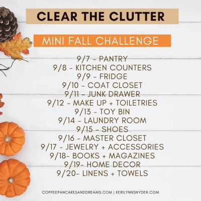 Fall Declutter Challenge