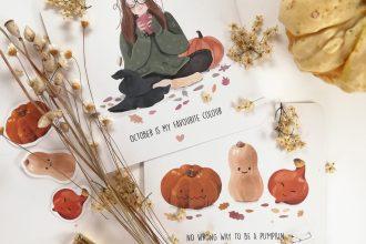 Herbstliche Grußkarten