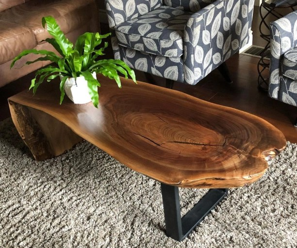 modern live edge coffee table