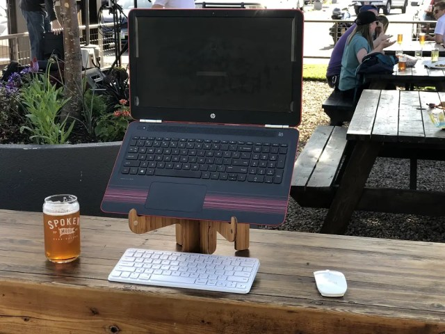 Enjoying a Beer with Work