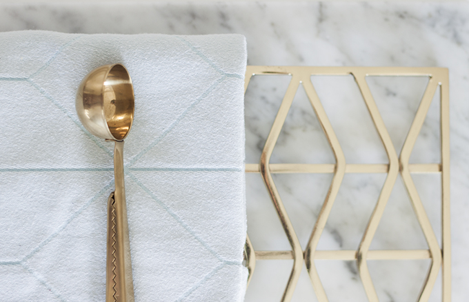 Brass details kitchen Hay coffee measure H&M Home pot coaster Coffee Table Diary blog