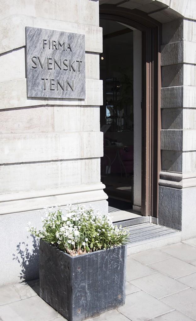 Svenskt Tenn Stockholm flagship store entrance