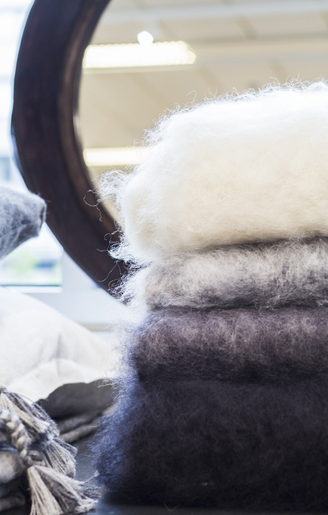 Balmuir kid mohair throws showroom Helsinki Lauttasaari