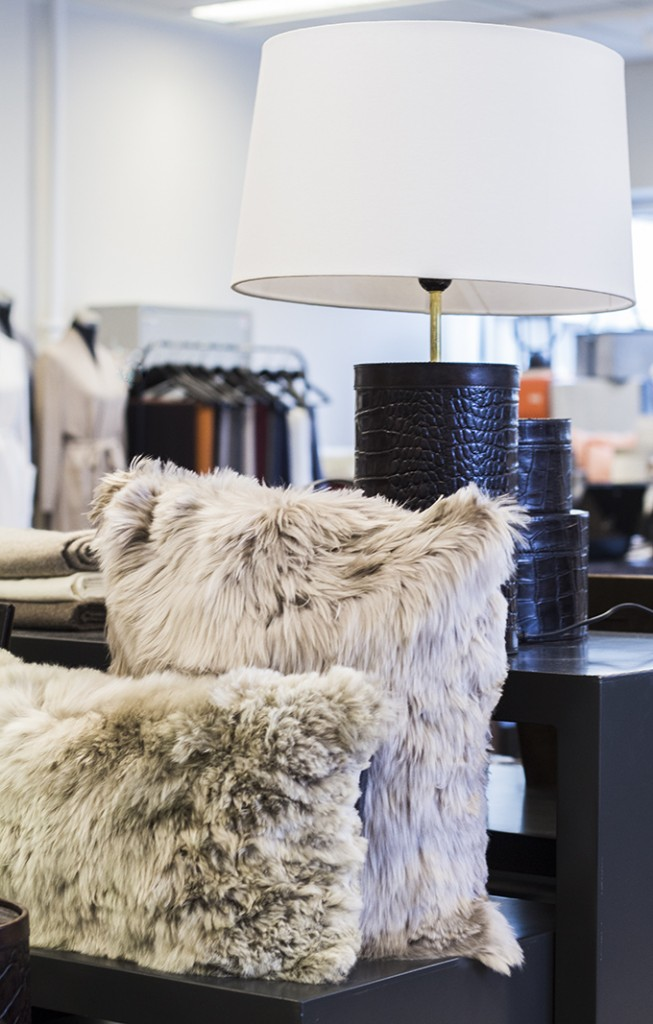 Balmuir alpaca cushions showroom Helsinki Lauttasaari