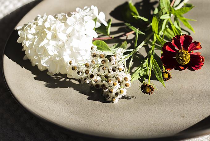 elokuun kukat puutarhassa syyshortensia helminukkajäkkärä syyshohdekukka Ikea Sinnerlig vati