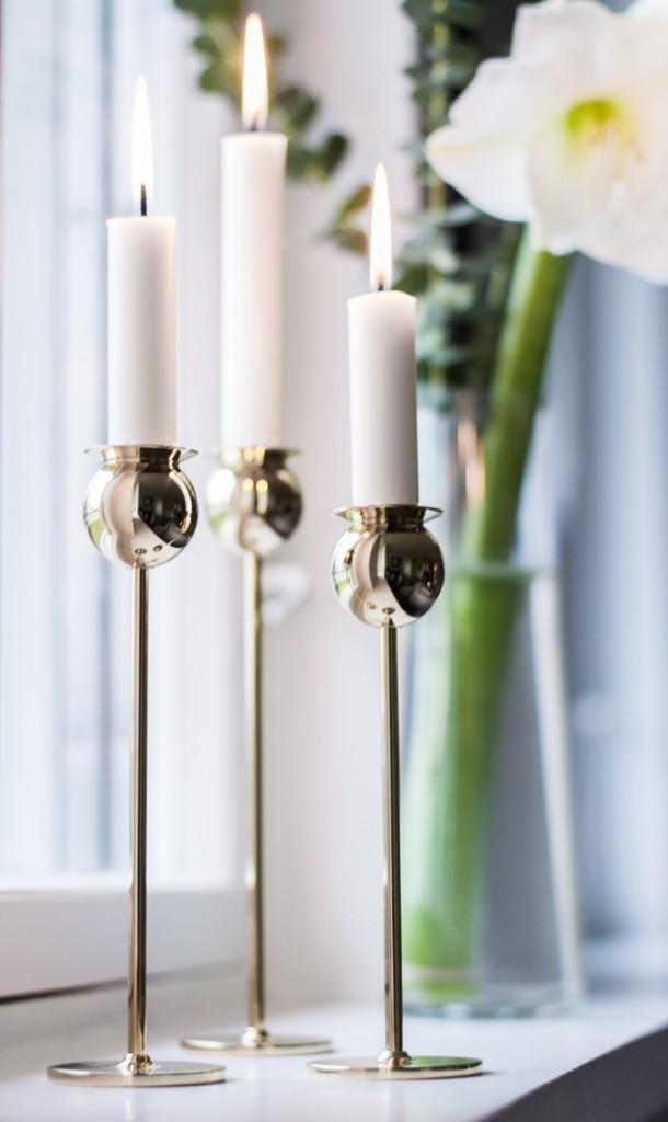 Skultuna Tulip candlestick brass Pierre Forssell