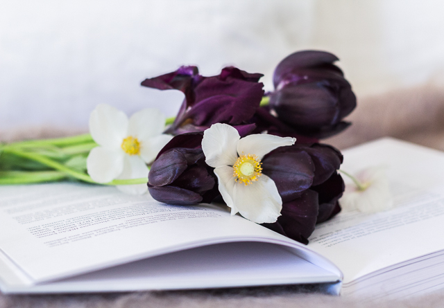 Iris Pumila Queen of the Night tulppaani arovuokko Coffee Table Diary
