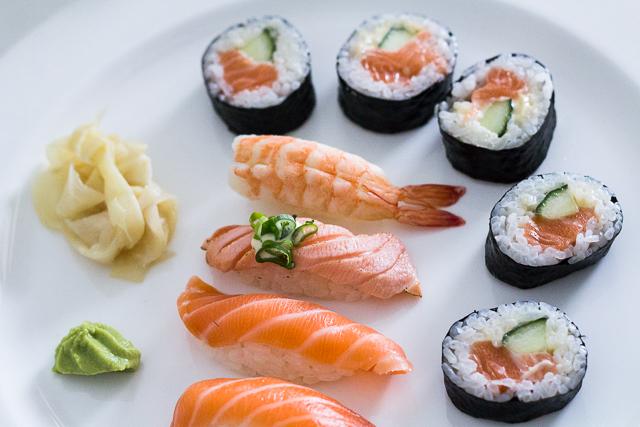 Hyvän viikonlopun resepti sushi
