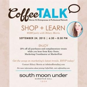Shop 'n' Learn at South Moon Under, MarketFair on September 24
