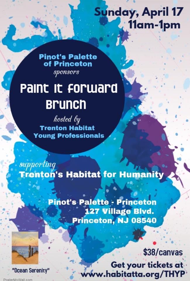 "Pinot's Palette Princeton Sponsors ""Paint it Forward"" for Trenton Habitiat"