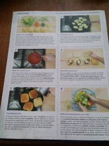 Blue Apron's easy-to-use instructions.