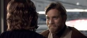 Obi-Wan smiling at Anakin