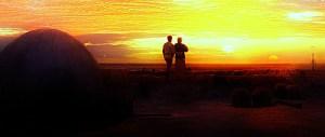 Lars Family watching the binary sunset of Tatooine.