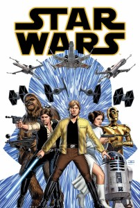 """""""Star Wars"""" No. 1 cover illustrated by John Cassaday. (Image courtesy of Marvel Entertainment)"""