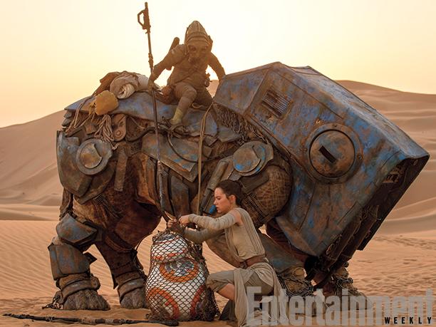 Rey (Daisy Ridley) frees BB-8
