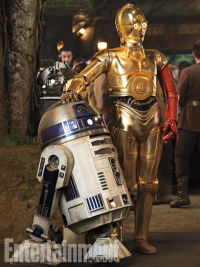 R2-D2 and C-3PO (red arm!!)