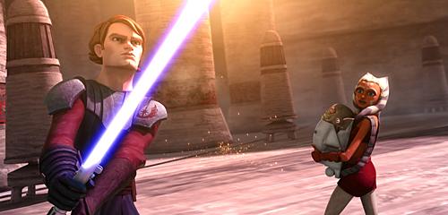 Anakin and Ashoka Clone Wars Theatrical