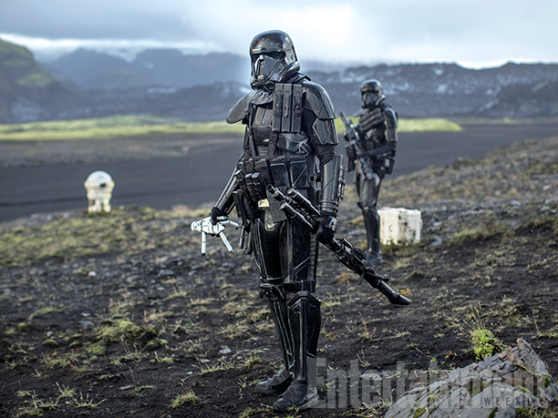 Deathtrooper, with a child's stormtrooper doll...