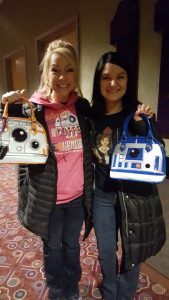 A good friend of mine also got a Loungefly bag for Christmas last year - and we proudly showed them off at a viewing of The Force Awakens!