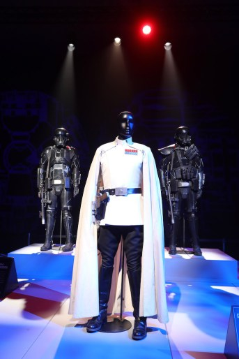 """As Gillette unveils """"Every Story Has a Face"""", a global collaboration with Disney / Lucasfilms in celebration of 'Rogue One: A Star Wars Story', at Pinewood Studios on October 27, 2016 in Iver Heath, England."""