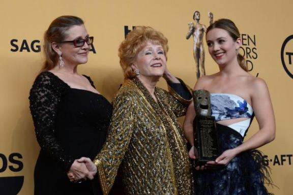 Carrie, her mother, Debbie Reynolds, and her daughter, Billie Lourd