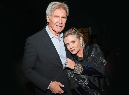 Carrie and Harrison Ford