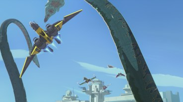 """STAR WARS RESISTANCE - """"Bibo"""" - Neeku adopts a strange sea creature and gets way more than he bargained for when it brings chaos to the platform. This episode of """"Star Wars Resistance"""" airs Sunday, Jan. 13 (10:00 - 10:30 P.M. EST) on Disney Channel. (Disney Channel)"""