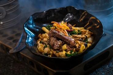 Innovative and creative eats from around the galaxy will be available at Star Wars: Galaxy's Edge when it opens May 31, 2019, at Disneyland Park in Anaheim, Calif., and Aug. 29, 2019, at Disney's Hollywood Studios in Lake Buena Vista, Fla. The Braised Shaak Roast, found at Docking Bay 7 Food and Cargo inside Star Wars: Galaxy's Edge, features beef pot roast with cavatelli pasta, kale and mushrooms. (David Roark/Disney Parks)