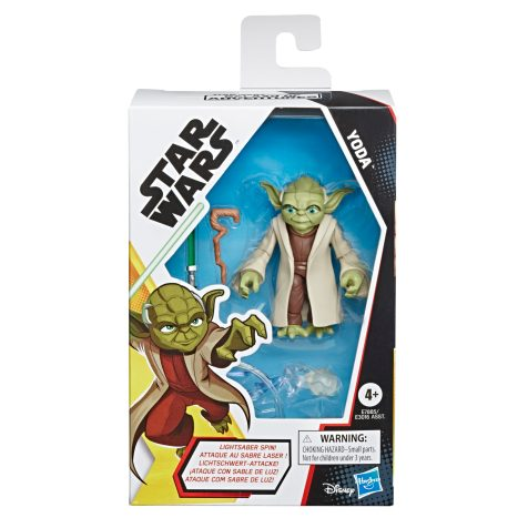 STAR WARS GALAXY OF ADVENTURES 5-INCH YODA Figure in pck copy
