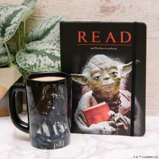 OUT OF PRINT - Star Wars READ Mugs and Pins - $10-$12 For the partner who loves to read - Our Star Wars mugs and pins are inspired by the vintage READ® posters by the American Library Association inspiring kids to read during the 80s and 90s. Shop now at Out of Print: https://outofprint.com/collections/star-wars
